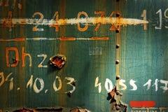 Foto arrugginita del primo piano di struttura del metallo Immagine Stock Libera da Diritti