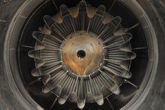 Foto ascendente cercana del motor a reacción Imagen de archivo libre de regalías
