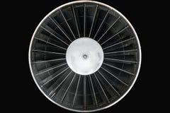 Foto ascendente cercana del motor a reacción Fotografía de archivo libre de regalías