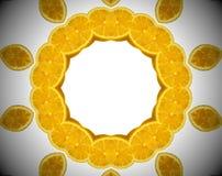 Foto astratta dell'arancia della mandala Fotografie Stock Libere da Diritti