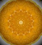 Foto astratta dell'arancia della mandala Immagini Stock