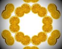 Foto astratta dell'arancia della mandala Fotografia Stock Libera da Diritti