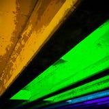 Foto astratta dello spettacolo di luci in Austin del centro fotografia stock