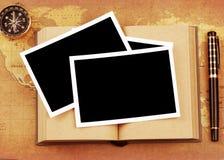 Foto auf Buch Lizenzfreie Stockbilder