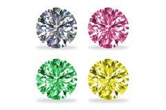 Foto auf Lager - Diamanten, lokalisiert auf Weiß Lizenzfreies Stockfoto