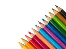 Foto auf Lager - färben Sie Bleistifte über weißem Hintergrund Stockfotografie