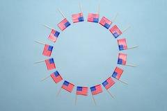 Foto av amerikanska flaggan Arkivfoto