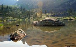 Foto av bergplatsen Arkivfoto