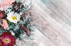 Foto av blommor som hälsningkort Arkivfoton