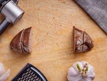 Foto av bröd ovanför sikt royaltyfri bild