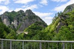 Foto av bron och maxima i fagarasberg Fotografering för Bildbyråer