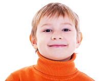 Foto av den förtjusande unga pojken royaltyfria foton
