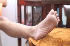 Foto av den mänskliga foten, version 5 Royaltyfri Fotografi