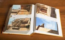 4 foto av den Montblanc staden, Catalonia, Spanien Arkivbild
