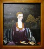 Foto av den original- målningen 'stående av Alicia Galant 'vid Frida Kahlo royaltyfria bilder