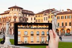 Foto av den piazzaPrato dellaen Valle i Padua, Italien Arkivfoton