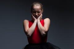 Foto av den stygga unga flickan Royaltyfri Bild