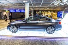 Foto av den svarta bilen för innovation för BMW serie i4 Royaltyfri Foto