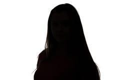 Foto av den tonårs- flickan för kontur arkivbild