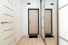 Foto av designen av en korridor royaltyfri bild