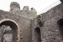 Conwy slott, norr Wales, United Kingdom Royaltyfria Bilder