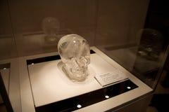 Brittisk Museum_crystal skalle Arkivbilder