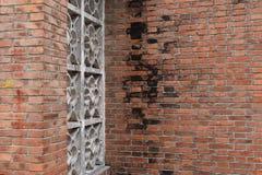 Foto av en vägg för röd tegelsten arkivbilder