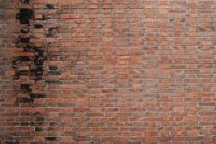 Foto av en vägg för röd tegelsten fotografering för bildbyråer
