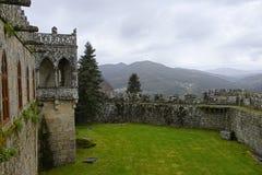 Soutomaior slott, Pontevedra, Galicia, Spanien royaltyfria foton