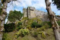 Soutomaior slott, Pontevedra, Galicia, Spanien royaltyfri fotografi