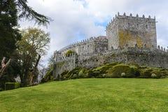 Soutomaior slott, Pontevedra, Galicia, Spanien arkivfoton