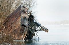 Foto av ett industriellt skepp Royaltyfria Bilder