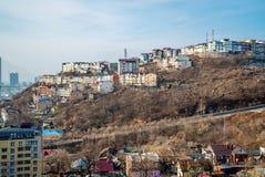 Foto av ett stadslandskap royaltyfri bild