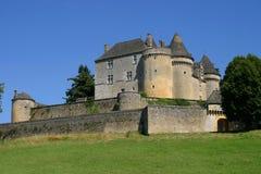 Foto av Franska Chateau de Fenelon arkivbild