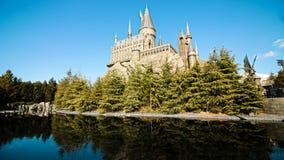 Foto av Hogwarts skola arkivbild