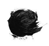 Foto av isolerad olje- målarfärg för färgrik svart borsteslaglängd royaltyfria foton