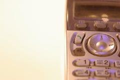 Foto av knapparna av den gamla gråa knapptelefonen arkivbilder