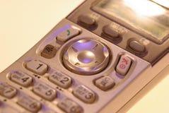 Foto av knapparna av den gamla gråa knapptelefonen royaltyfri foto