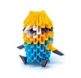 Foto av origamimignonen som isoleras på vit bakgrund Fotografering för Bildbyråer
