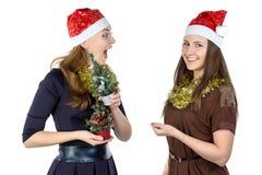 Foto av skamgreppet i juldag fotografering för bildbyråer