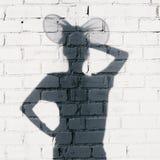 Foto av skuggor av kvinnan med öron royaltyfria foton