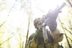 Foto av soldaten, foto under Royaltyfri Fotografi