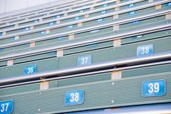 Foto av ställen med nummer i stadion Royaltyfria Foton