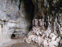Foto av Tavdin grottor inifrån bergen av Altaien royaltyfri illustrationer