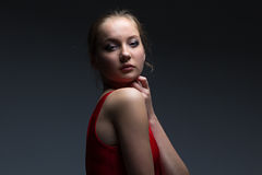 Foto av unga flickan Arkivfoto