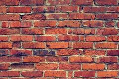 Foto av väggen för röd tegelsten Arkivfoton
