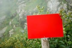 Foto av växten, röd tom platta royaltyfri fotografi