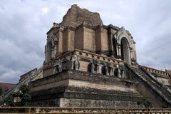 Foto av Wat Chedi Luang i Chiang Mai Thailand Royaltyfria Bilder