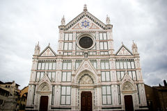 Basilicadi Santa Croce i Florence, Toscany, Italien Fotografering för Bildbyråer