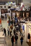 Foto: Bezoekers in Photoshow, Rome 2012 Stock Foto